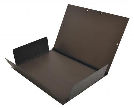 Clairefontaine 48015c carton dessin kraft verg noir lastiques et 3 rabats 32x45 a3 - Carton a dessin a3 ...