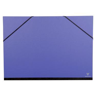 Clairefontaine 44702c carton dessin couleur lastiques 37x52 a3 coloris bleu indigo - Carton a dessin a3 ...