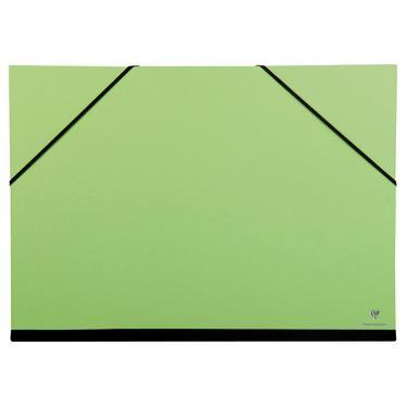 Clairefontaine 44704c carton dessin couleur lastiques 37x52 a3 coloris vert pomme - Carton a dessin a3 ...