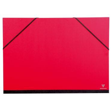 Clairefontaine 44705c carton dessin couleur lastiques 37x52 a3 coloris rouge cerise - Carton a dessin a3 ...